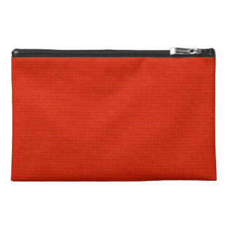 Quilted Crimson Travel Accessory Bags