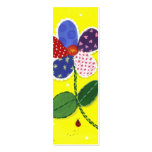 Quilted Daisy Bookmark Business Card Templates