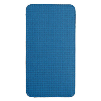Quilted Deep Ocean Blue Galaxy S4 Pouch