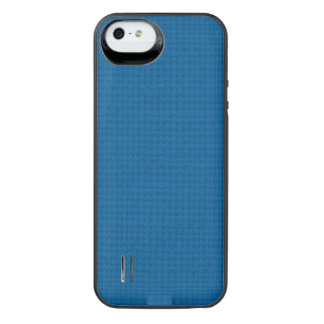 Quilted Deep Ocean Blue iPhone SE/5/5s Battery Case