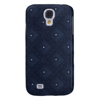 Quilted Diamonds Navy Blue Galaxy S4 Case