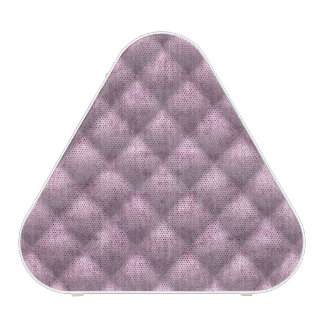 Quilted Dusty Mauve Velvety Textured Pattern Bluetooth Speaker