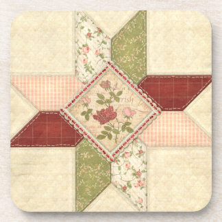 Quilted Floral Coaster