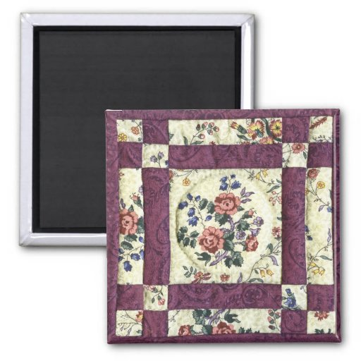 Quilted Floral Magnet