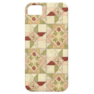 Quilted Floral Squares iPhone Case