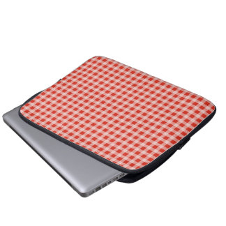 Quilted Gingham Laptop Sleeve