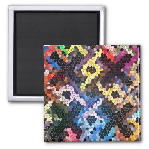 Quilted Glass 2 Inch Square Magnet