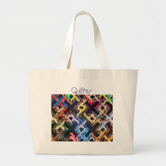 Quilted Glass Large Tote Bag