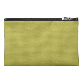 Quilted Golden Travel Accessory Bags