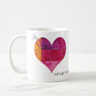Quilted Heart Coffee Mug