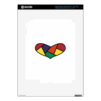 Quilted Heart iPad 3 Decal
