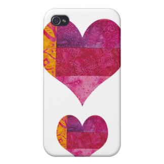 Quilted Heart Covers For iPhone 4