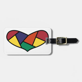 Quilted Heart Luggage Tag