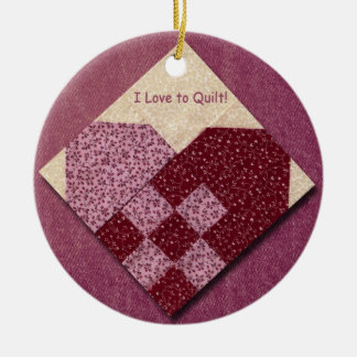 Quilted Heart Christmas Tree Ornament