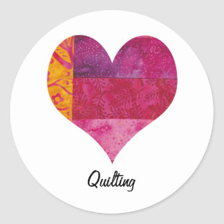 Quilted Heart Sticker