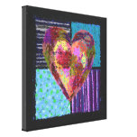 Quilted Heart Wrapped Canvas Canvas Print