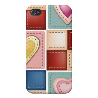 Quilted Hearts iPhone 4/4S Cover