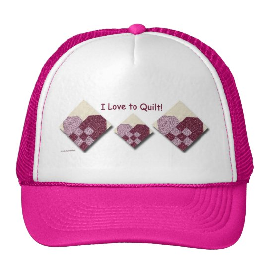Quilted Hearts Love to Quilt Trucker Hat