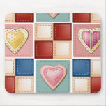 Quilted Hearts Mouse Pads