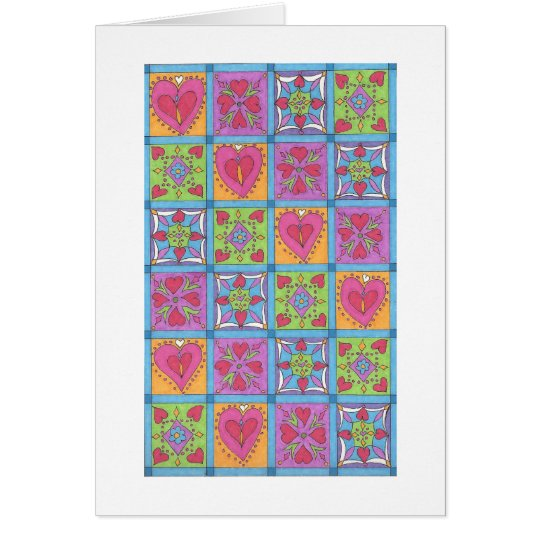 Quilted Hearts Notecard