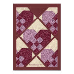 Quilted Hearts Personalized Announcement
