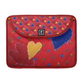 Quilted Hearts Sleeve For MacBook Pro