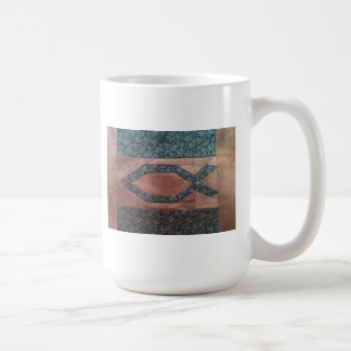 Quilted Ichthus Mug