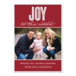 'Quilted Joy' (Cranberry) Holiday Photo Card