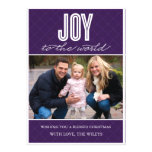 'Quilted Joy' (Plum) Holiday Photo Card