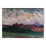 Quilted landscape hills and sky greeting cards