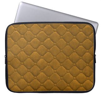Quilted Look Gold Laptop Sleeve