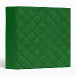 Quilted Look Green 3 Ring Binders