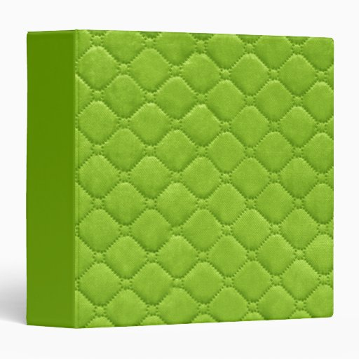 Quilted Look Lime Green 3 Ring Binder