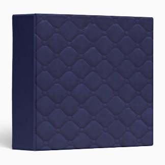 Quilted Look Navy Blue Binder