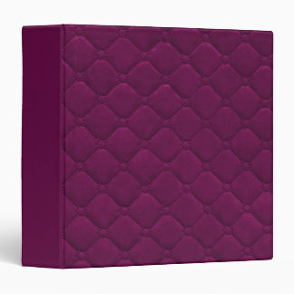 Quilted Look Raspberry Binder