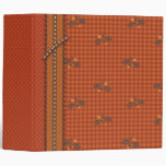 Quilted-look Squirrel for Thanksgiving 3 Ring Binder