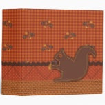 Quilted-look Squirrel for Thanksgiving Binder
