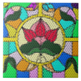 Quilted Look Stained Glass Tile