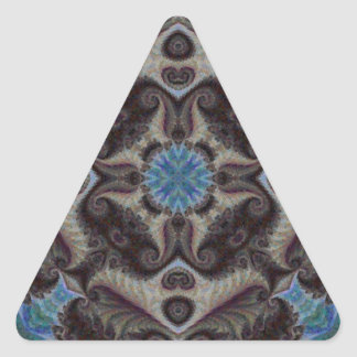 Quilted Mosaic Fractal 6 Triangle Sticker