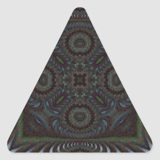 Quilted Mosaic Fractal 8 Triangle Sticker