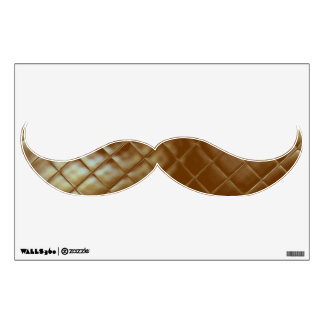 Quilted Moustache Mustache Wall Art Room Graphics