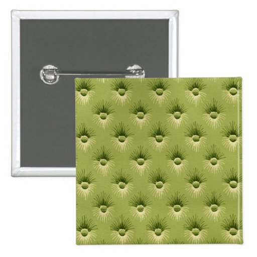 Quilted Olive Vintage Wallpaper Button