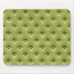 Quilted Olive Vintage Wallpaper Mouse Pad
