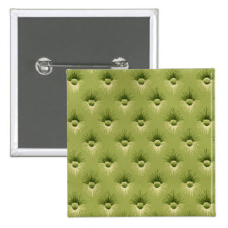 Quilted Olive Vintage Wallpaper Pinback Button