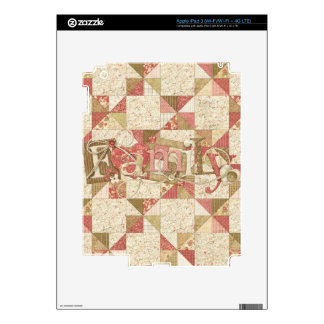 Quilted Patchwork Family iPad Skin