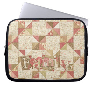 Quilted Patchwork Family Laptop Case