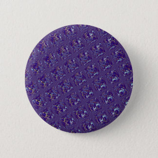 Quilted Pattern in Blues Pinback Button