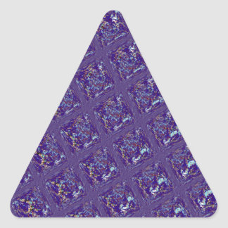 Quilted Pattern in Blues Triangle Sticker