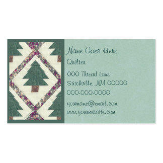 Quilted Pine Tree Business Cards