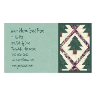 Quilted Pine Tree Business Card Template